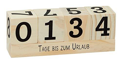 MIK Funshopping Calendario de cuenta atrás con dados de madera con temática...