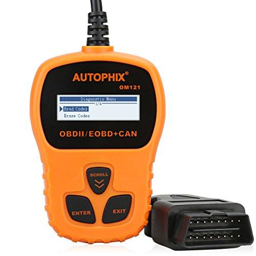 Price comparison product image AUTOPHIX Code Reader OM121 OBD2 Scanner Universal Automotive Engine Diagnostic Scan Tool for Checking MIL VIN Clear Error Code - Orange