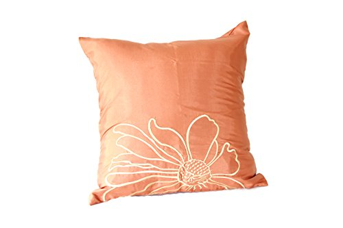 Lotus House Copper Silk Pillowcase - Floral Collection (1, Copper Floral)