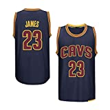 GGLL Cleveland Cavaliers #23 - Camiseta de baloncesto para hombre, sin mangas, de LeBron James