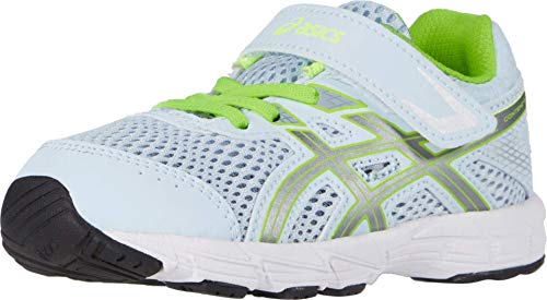 ASICS Kid's Contend 6 TS Running Shoes, K9M, Soft Sky/Pure Silver