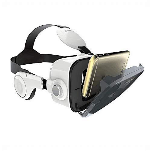RVTYR Z4 / Boboz4 VR Vidrios del teléfono móvil de Realidad Virtual en 3D Viene con Auriculares estéreo de 120 Grados de ángulo de visión Grande, Blanca, un tamaño Gafas Multimedia