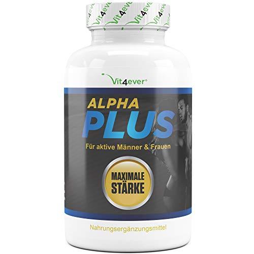 Vit4ever® Alpha Plus - 180 Kapseln - Hochdosiert mit L-Arginin + Maca + Tribulus - Vegan