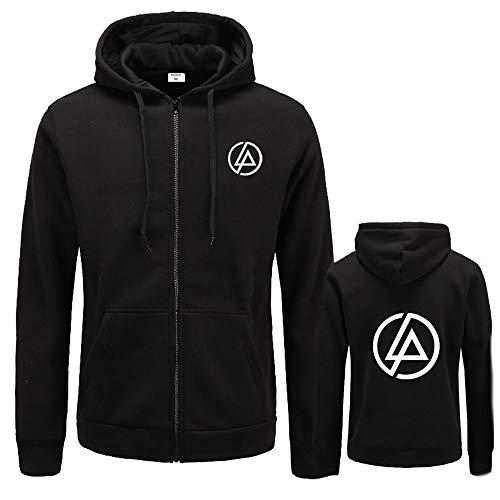 Linkin Park Pullover Manches longues en vrac Coat College Style de personnalité sauvage vêtement de mode printemps et en automne classique Zipper Pull Veste mince Slim Casual Sweat à capuche Manteau é
