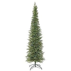 vickerman 415016-8.5′ x 36″ bixley pencil fir tree with 550 multi color led lights christmas tree (k167382led) silk flower arrangements