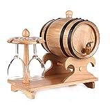 HANYU Champán Barril Vintage Roble Barril Vino Dispensador Madera Agua Dispensador Almacenamiento Whisky Vino Vinagre...