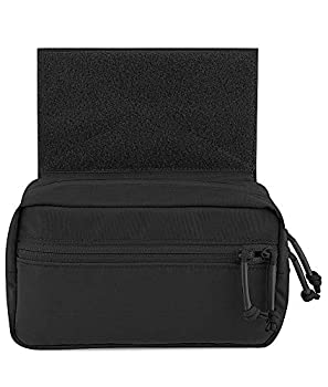 KRYDEX Tactical Drop Pouch Sub Abdominal Carrying Kit Bag for Tactical Vest Chest Rig  Black