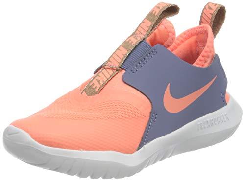Nike Jungen Unisex Kinder Flex Runner (TD) Running Shoe, Atomic Pink/Atomic Pink-World Indigo-Metallic Red Bronze, 18.5 EU
