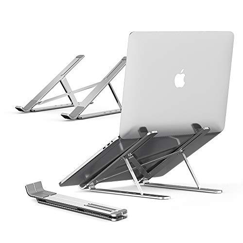 パソコン スタンド PCスタンド 折りたたみ式 iPadスタンド アルミ合金製 6段階調節可能 持ち運びに便利 放熱性抜群 40KG荷重 7-17インチに対応