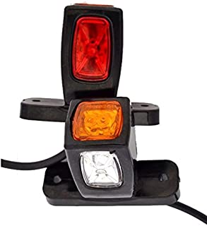 Lotto di 12/pezzi 24/V arancione 6/LED Outline marcatore luci laterali con staffe ribaltabile Chassis rimorchio camper