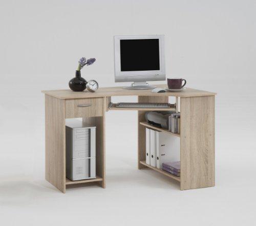 Dreams4Home Schreibtisch 'Vera', Tisch Bürotisch in Buche, in Esche/Weiß, Baltimore-Walnuss, Eiche oder Weiß, Farbe:Eiche