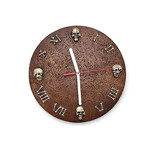 XBYUNDING Reloj de Pared al Aire Libre,Reloj de Pared de Esqueleto Retro de 10 Pulgadas Números Romanos Reloj de Pared Adornos de jardín para jardín/Patio/Patio/Patio/Se Puede Dar a los Amigos