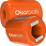 Bit Magnetizer Ring and Demagnetizer by Olsa Tools | Screwdriver Bit Drive Holder for Magnetic Driver Bits | Powerful Neodymium Magnet | Works With Allen/Hex Keys