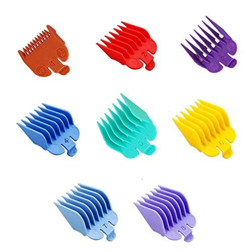 KHTD 8PCS Professional Hair Clipper Guards Compatible with Most Wahl Hair Clippers, 1/8