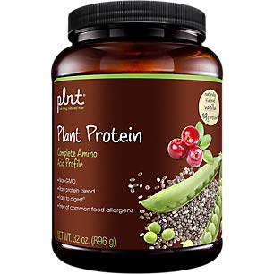 plnt Plant Protein Vanilla with Complete Amino Acid Profile, NonGMO, Vegan Raw Protein Blend Easy to Digest Provides Energy Support (2 Pound Powder)