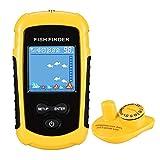 LUCKYLAKER Wireless Handheld Fish Finder Water Sonar Kayak Fish Finders Depth Sonar Transducer Fishing Finder for Sea Fishing Ice Fishing Boat