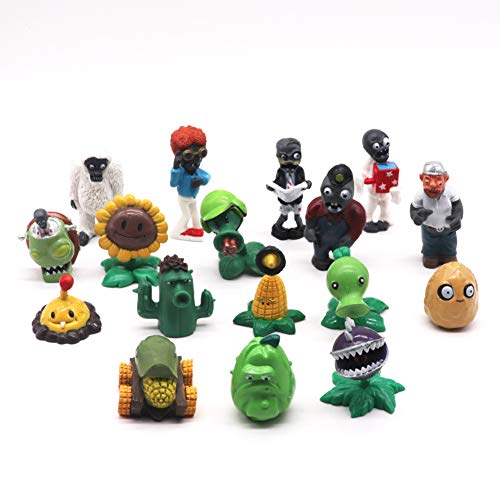 Plants vs Zombies - Cake Topper Mini Figurine Cupcake Topper Happy Birthday per Torta Decorazione per Compleanno, Baby Shower, Festa a Tema Figure Set