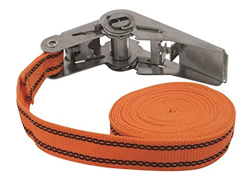 Petex 43192635 Ratschenspanngurt 1-teilig, 5 m, 25 mm, 125/250 daN, orange