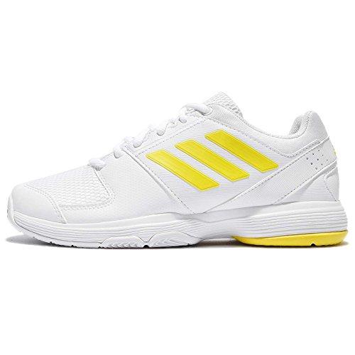 adidas Barricade Court, Scarpe da Tennis Donna, Giallo (Footwear White/Bright Yellow/Footwear White), 36 EU