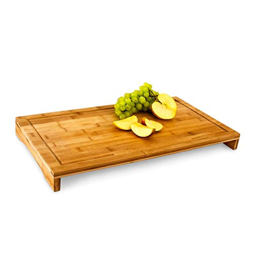 Relaxdays Planche à découper bambou Protège-plaque 52x29 cm