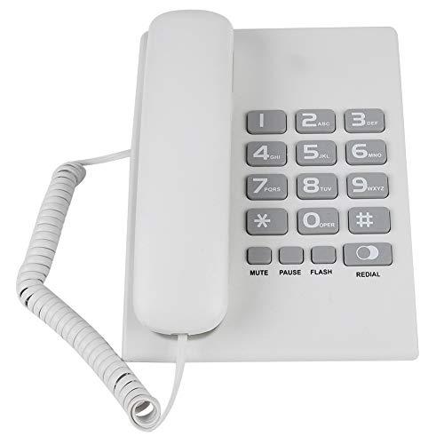 Vaste telefoon, vaste telefoons voor particuliere gebruikers met volume-instelbare hotel desktop wandtelefoon vaste telefoon, retro wit