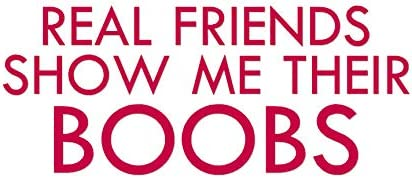 Real Friends Show Boobs Decal Sticker Multiple Patterns /& Sizes ebn3671