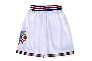 CNALLAR Boys Space Movie Basketball Shorts Kids Sport Shorts White/Black S-XL  White Youth Small