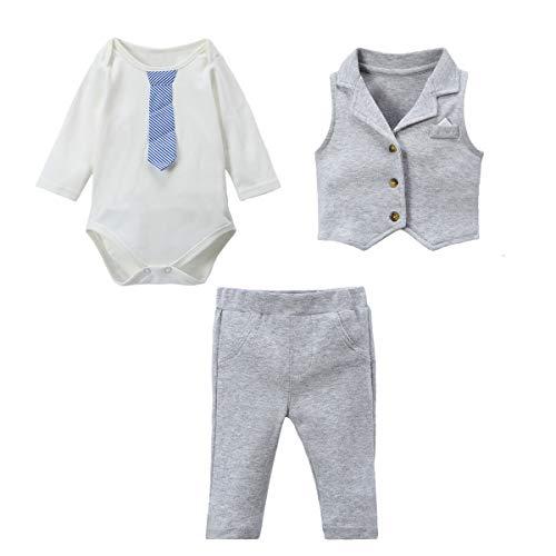 Famuka baby Jongens pak baby jassen doop bruiloft baby kleding set