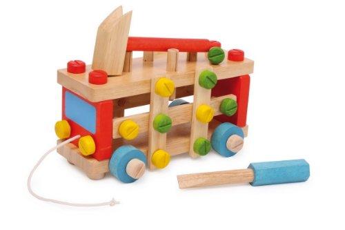 Voiture et établi en bois complet avec accessoires, génial pour bricoleur en herbe