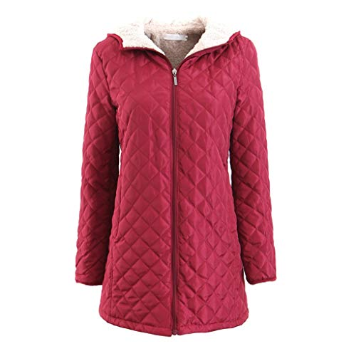 BXzhiri Plus Size Womens Winter Warm Zipper Hoodie Solid Trench Jacket Girls Loose Casual Overcoat Outwear with Pockets