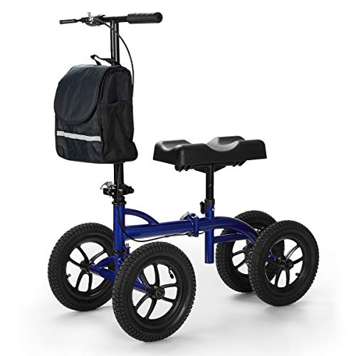 OasisSpace Bariatric Knee Walker -Heavy Duty Knee Scooter with 12 inch Pneumatic for 500LB