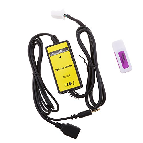 MagiDeal Adaptador de USB AUX Reproductor de MP3 Audio 6+6 Pin para Toyota Rav4 Lexus Es300