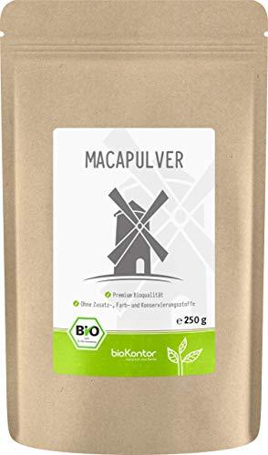 Maca-Pulver BIO 250g helles Macapulver aus Peru I laborgeprüft aus kontrolliert biologischem Anbau I ohne Zusatzstoffe - 100{0eeaf58e33305d20fc8ffbfbeb14db55ceb9feb78129a76d3f2a11e40ef036b0} rein I per Hand abgefüllt in Deutschland von bioKontor