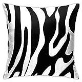 XXUU Textura de Cebra Funda de Almohada en Blanco y Negro 18 'X18' Diagrama Funda de Almohada Cojín Cuadrado para sofá...
