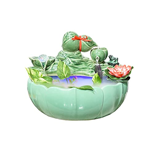 SFF Indoor Fountain Tabletop Fountain Waterfall Fountain Desktop Ornaments Gift Atomizing Humidifier for Bedroom Office Home Desk Decor