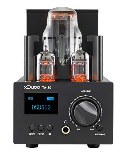 xDuoo TA-30 Bluetooth 5.0 ES9038Q2M DAC y Amplificador de Auriculares de Tubo Amplificador de Entrada USB / Coax / Opt