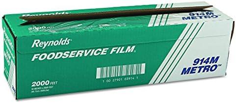 Reynolds Wrap 914M Metro Light Duty PVC Film Roll w Cutter Box 18 x 2000ft Clear product image