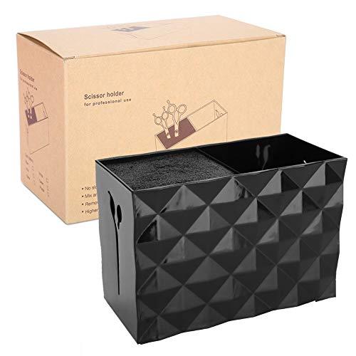 Caja de almacenamiento de peluquería, Accesorios de herramientas de peluquería Caja de almacenamiento Tijeras Peine Pinza para el cabello Aparador Organizador (4#)
