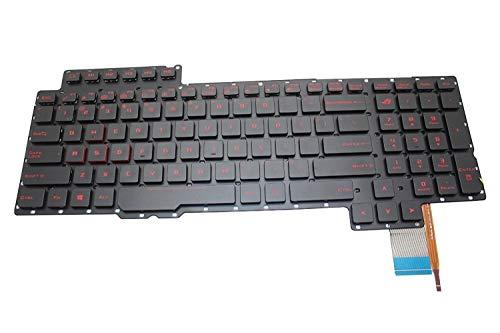 ZGQA-GQA Teclado para computadora portátil Nuevo Teclado retroiluminado en Negro de EE. UU. (Sin Marco) Reemplazo para ASUS ROG V153062AS1-US 0KN0-SI1US11 0KNB0-E610US00 Luz de Fondo