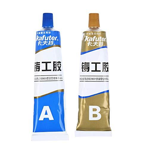 Magic Metal Mending Agent, industrielle Hitzebeständigkeit Kaltschweißmetallreparaturpaste A & B-Klebstoffgel, schnell trocknende Hochtemperaturbeständigkeit