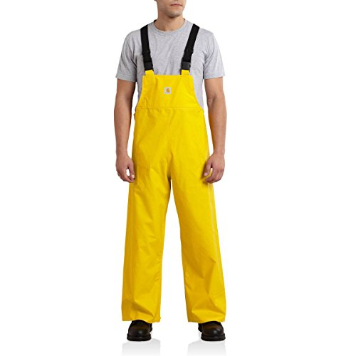 Photo of yellow colored Carhartt Mayne PVC Bib Overalls