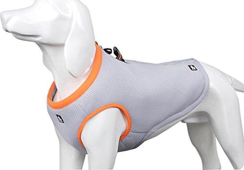 SGODA Dog Cooling Vest Harness Cooler Jacket Grey Orange XX-Large