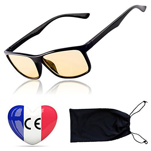 Gamingbrille Filter Hoher Schutz vor Blaulicht – Premium-Gläser Gaming Computerbrille Anti Blend Anti Müdigkeit auf PC-Screens – Gamer Spielbrille Blaulichtfilter