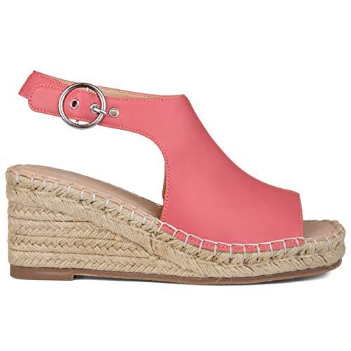 Brinley Co. Womens Wedge Sandals Coral, 9 Regular US