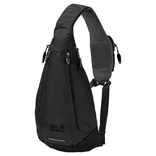 Jack Wolfskin Delta Bag Slingbag, Black, ONE Size