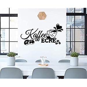 *NEU* Wandaufkleber/Wandtattoo/Wandsticker – Spruch für die Küche/Büro ***Kaffee Ecke*** (Größen.- und Farbauswahl)