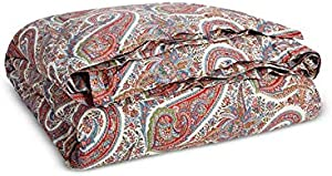 Ralph Lauren Norwich Road Collection Pyne Paisley King Duvet Cover, Cream Multi