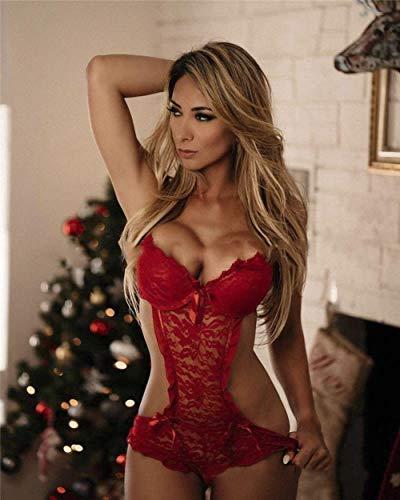 Gdofkh Europäische und amerikanische sexy Damen Spitzen Dessous Pyjamas Dessous...
