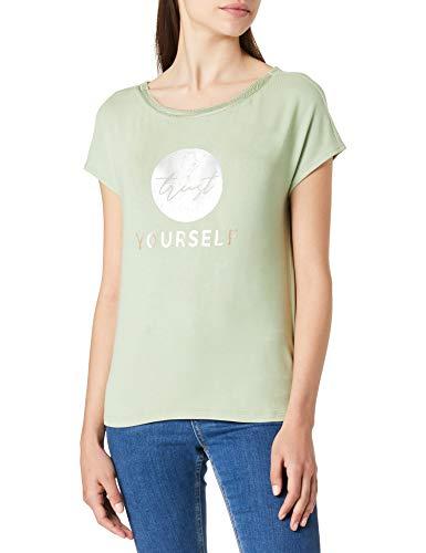 Street One Damen 316088 T-Shirt, Faded Green, 46