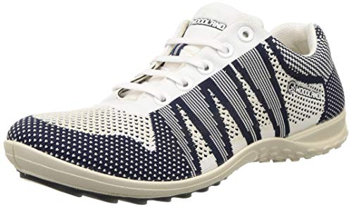 Woodland Men's Leather Sneakers-10 UK (44 EU) (11 US) (GC 2897118WS_White/Navy)
